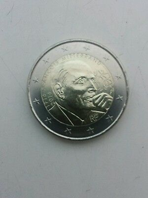 Piece Neuve 2 Euros Commemorative France 2016 - Francois Mitterand