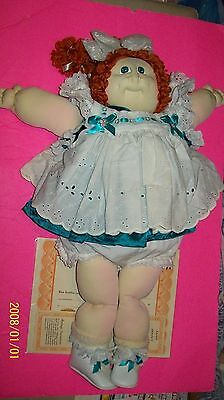Soft Sculptured Cabbage Patch Kid! Girl Topaz 1987 Htf Hair Eye Combo