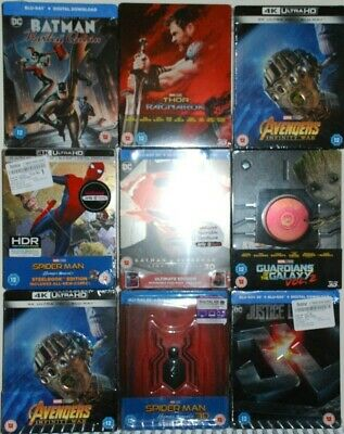 Marvel Dc Steelbook Clearence - New First Class Free Postage Bluray