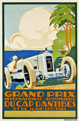 Indianapolis Motor Speedway vintage auto race travel promo poster repro 24x36