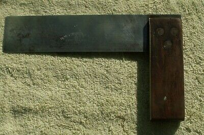 Antique/Vintage 6 Inch No 2 Henry Disston & Sons Wood & Brass Try Square L@@K