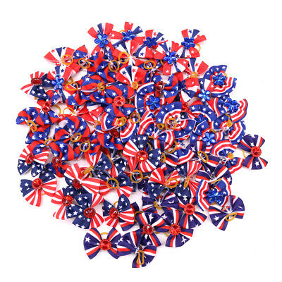 New Puppy Yorkshire Dog Hair Bows for July 4th/4th of July Dog Hair Accessories