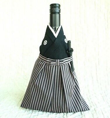 """JAPANESE KIMONO WINE BOTTLE COVER BAG """"SAMURAI"""" 2018 From Japan With Tracking"""