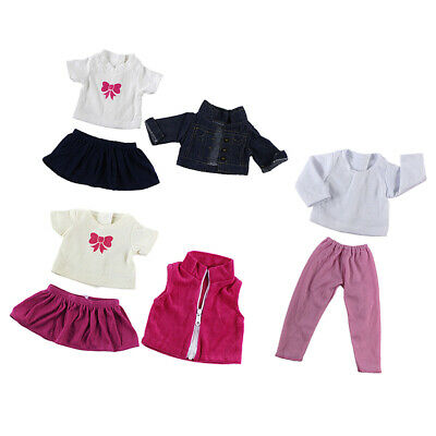 3set Doll Clothes FOR 18'' AG American Doll Princess Dress Outfit Jeans Skirt