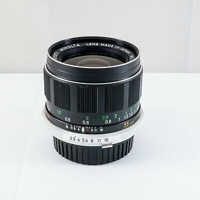 Minolta MC W.ROKKOR-HG 35mm f2.8 lens for SR MC MD Sony Nex mirrorless