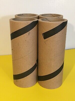 Lot Of 4 Unbranded Empty Paper Rolls Art Craft Heavy Duty Brown