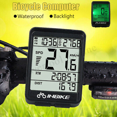 Wire Wireless Cycling Bike Computer Bicycle Waterproof LED Speedometer