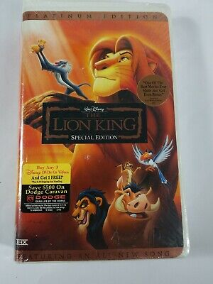 Walt Disney The Lion King Platinum Special Edition Disney VHS Tape SEALED