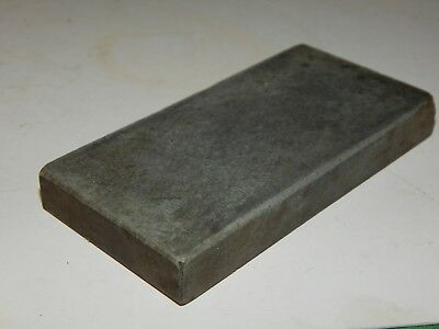 "VINTAGE! 4"" X 2"" X 1/2"", SMOOTH FINE, GRAY, RAZOR, KNIFE Sharpening Stone USED,"