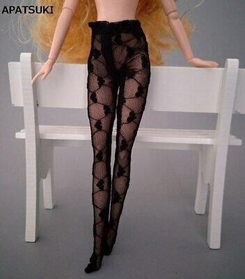 Fashion Doll Accessories Pantyhose For 11.5in. Doll Clothes Black Heart Stocking