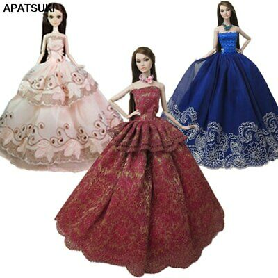 "3pcs/lot Random Fashion Doll Clothes For 11.5"" Doll Princess Wedding Dress 1/6"