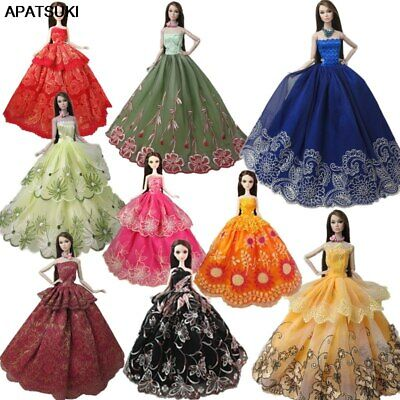 "10pcs/lot Random Fashion Wedding Dress For 11.5"" Doll Clothes Gown Outfits 1/6"