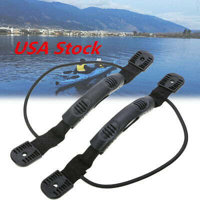1Pair Kayak Canoe Handles Boat Side Mount Carry Handle W/Bungee Canoe USA