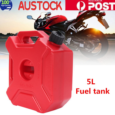 5L Fuel Tank Jerry Can Spare Plastic Petrol Tank Motorcycle Gas Can Red AU Stock