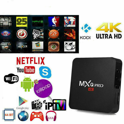 Mxq Pro Smart Tv Box 4K Android Quad Core Wifi Piu' Tastiera In Omaggio