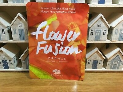 NEW ⭐️⭐️ORIGINS FLOWER FUSION⭐️⭐️Orange Radiance Boosting Sheet Mask⭐️⭐️