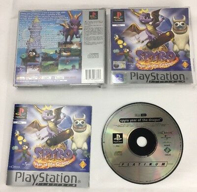 SPYRO Year of the Dragon PS1 Sony Playstation Platinum Edition Videogame PAL