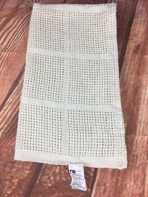 Mothercare White 100% Cotton Knitted Baby Blanket