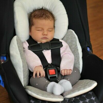 Body Newborn Baby Stroller Liner Mat Cushion Pad Car Seat Head Support Pillow