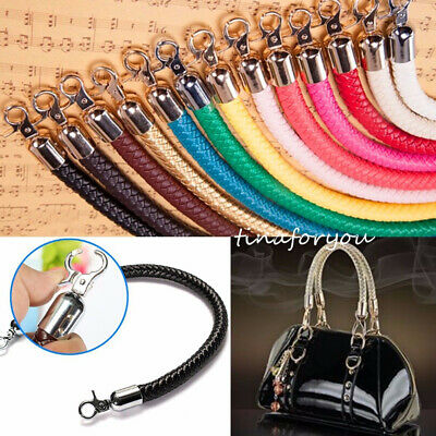 Leather Braided Purse Handle Shoulder Bags Belt Replacement Handbag Strap DIY AU