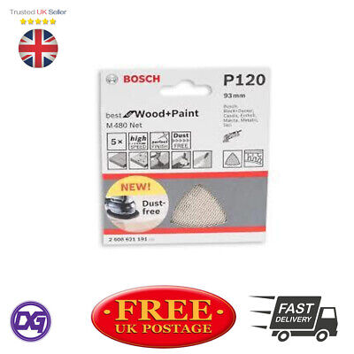 Bosch P120 93Mm Wood And Paint Sanding Sheets