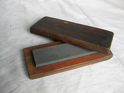 Vintage Oil Stone in Wooden Box