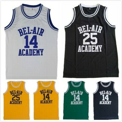 Will Smith 14 Carton Banks 25 The Fresh Prince Bel Air Academy Basketball Jersey