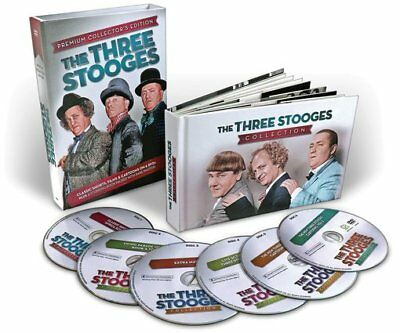 The Three Stooges: Classic Shorts, Films & Cartoons (6-DVD + Book)