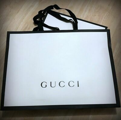 """GUCCI"" SHOPPER ORIGINALE BORSA di CARTA BUSTA REGALO cm48x36x17prof GIFT BAG 🎁"
