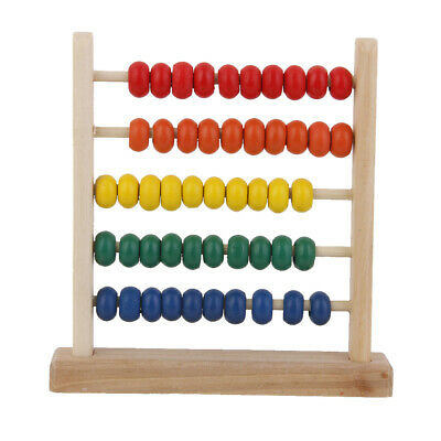 Wooden Colourful Bead Abacus Counting Number Maths Educational Toy for Kids