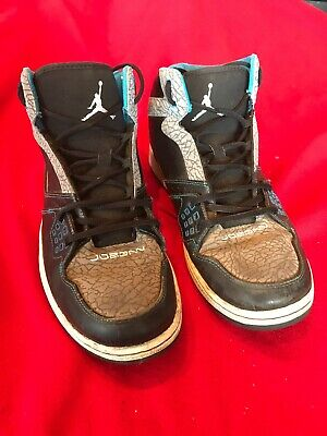 dbd6767fd535e3 NIKE AIR JORDAN 1 Flight 3 Mens Black  Turquoise Sneakers size 8 US ...
