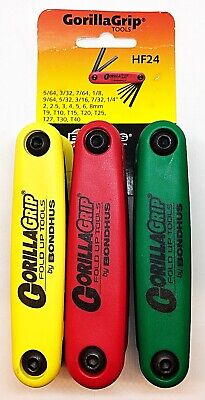 Bondhus Gorilla Grip 3pc Set, Includes Metric, Imperial & Torx Sets HF24