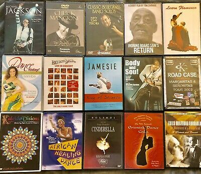 ASSORTED Music/Dance/Documentaries/Instructional (75 DVDS/CDS) * QUICK SALE *