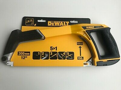 "DEWALT DWHT20547L Hacksaw 12"" 300mm 5 in 1 Hack Saw Metal Plastic Wood Ergonomic"