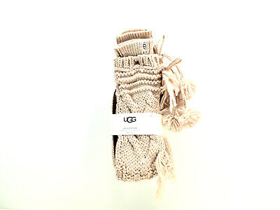 700856087a4 NEW UGG COZY Cable Knit Knitted Slipper Sock Boots Tall Pom Pom ...