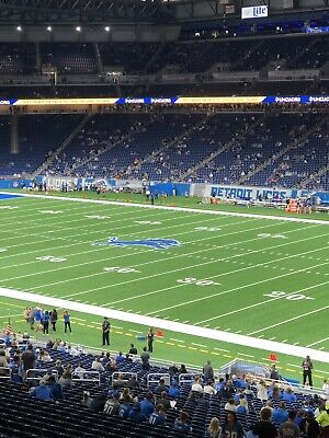 Detroit Lions Vs Los Angeles Chargers 2 Tickets (Club Seats Row 1) Aisle