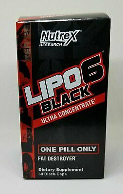 Nutrex LIPO 6 BLACK Ultra Concentrate / Weight Loss 60 Capsules