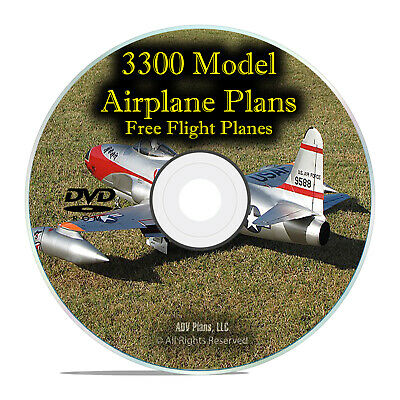 3,300 Free Flight Model Aircraft Plans, RC, Remote Control, Easy Guides DVD I27