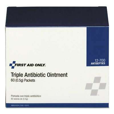 First Aid Only Triple Antibiotic Ointment, 0.5 g Packet, 60/Box 738743127004