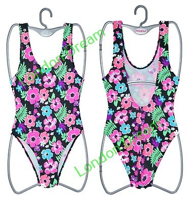 Girls Swimming Suit Multi Colors Flower Print Costume Summer Beach Holidays Wear
