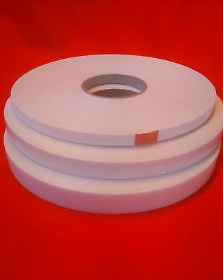 15 Rolls Double Sided White Foam Tape - 19 mm x 20 m x 3 mm Thick