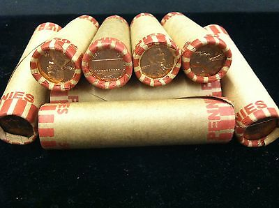 1966  Uncirculated  Lincoln Cent  Roll  Sealed Bank  Wrapped
