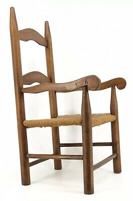 Antique Vintage Ladder Back Shaker Chair For Child Or Doll Farmhouse