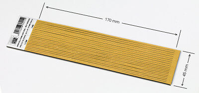 2 mm THICK PRE-CUT.  OPEN CELL FOAM SELF ADHESIVE - ONE PIECE: 2x45x170 mm