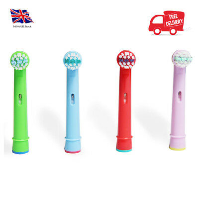 4 Replacement Heads Fit For Oral-B Stages Kids Childrens Electric Toothbrush