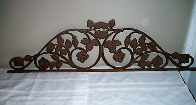 Vintage Cast Iron Architectural Wall / Garden Art Salvage Arch Scrolling Leaves