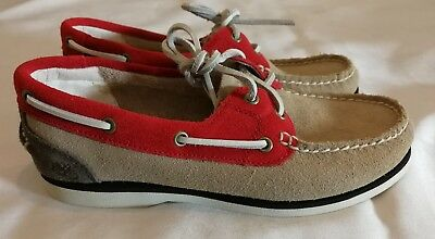 TIMBERLAND Earth keepers Suede Leather Lace up Deck Moccasin  uk 3.5 eu 36.5