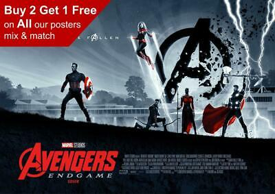 Marvel Avengers Endgame Odeon Movie Poster 2 A5 A4 A3 A2 A1