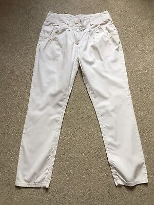 Next Girls White Trousers Age 14 Years