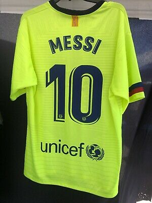 55531f7d6b4 Lionel Messi Barcelona Jersey - Neon/Yellow - Large - Soccer/ Futbol